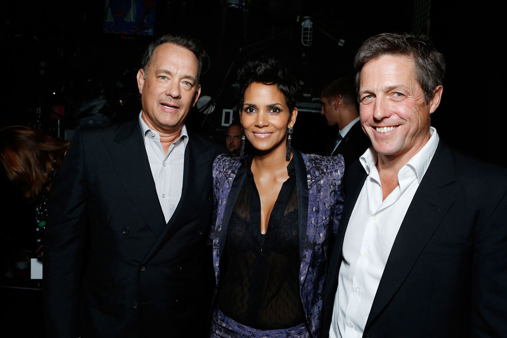 Tom Hanks, Halle Berry, and Hugh Grant