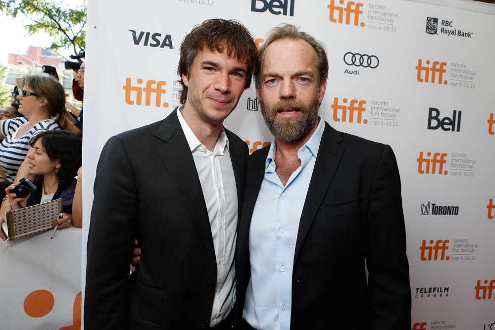 James D'Arcy and Hugo Weaving